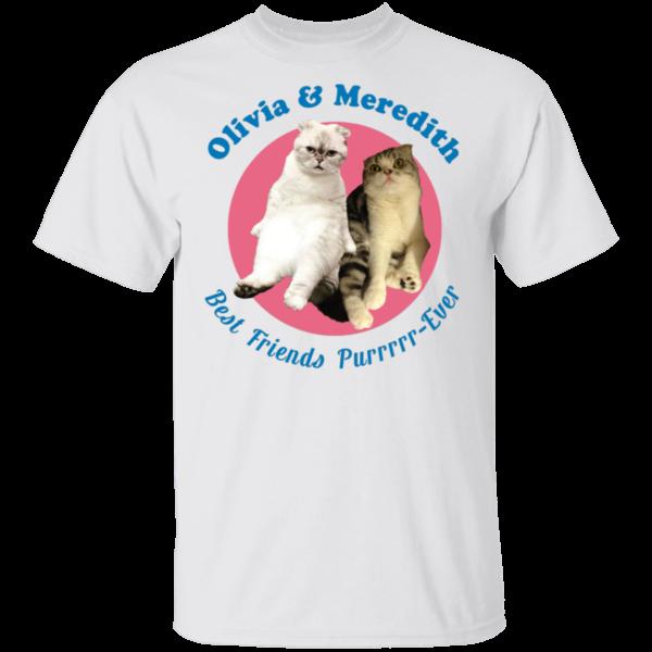 Olivia And Meredith Best Friends Purrrrr-ever Shirt