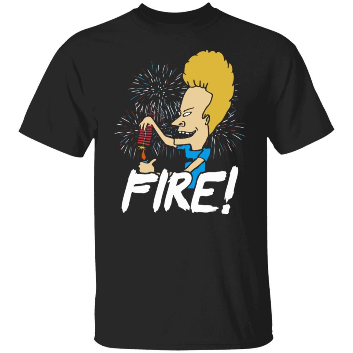 4th Of July Beavis Fire Firework Shirt