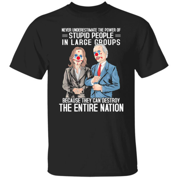 Biden Harris Pennywise Never Underestimate The Power Of Stupid People Shirt