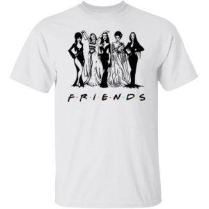 Halloween Friends Squad Goals Elvira Lily Munster Morticia Bride Of Frankenstein Shirt