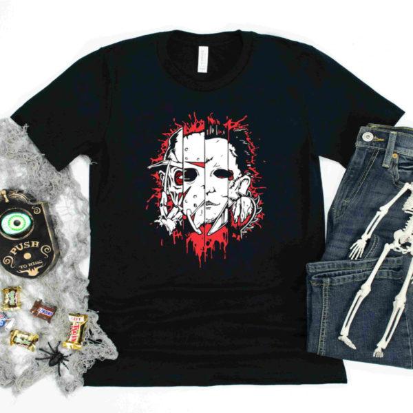 Slasher Squad Freddy Jason Michael Leatherface Shirt