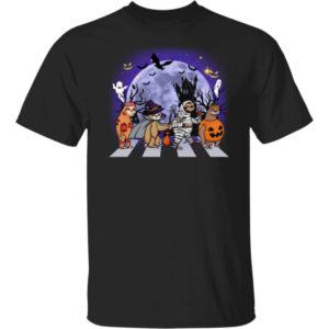 Sloths Witch Pumpkin Abbey Road Halloween Shirt