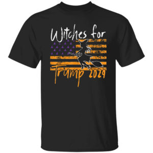 Witches For Trump 2024 Halloween American Flag shirt