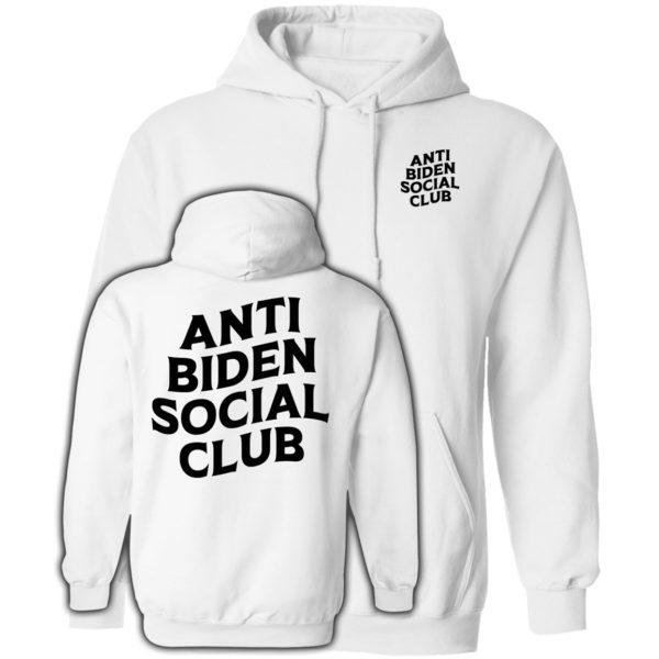 Anti Biden Social Club White Hoodie