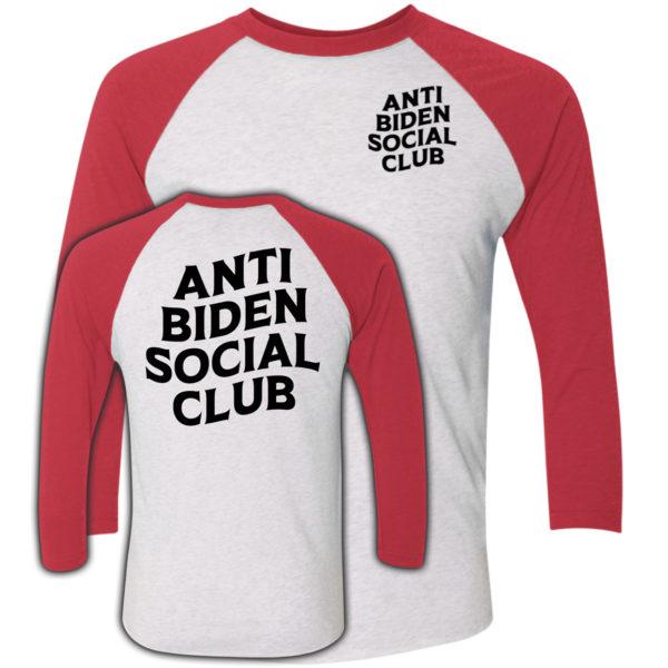 Anti Biden Social Club White Sleeve Raglan Shirt