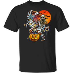 Halloween Dinosaur Skeleton Shirt