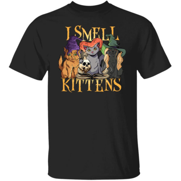 Halloween Witch Cats I Smell Kittens Shirt