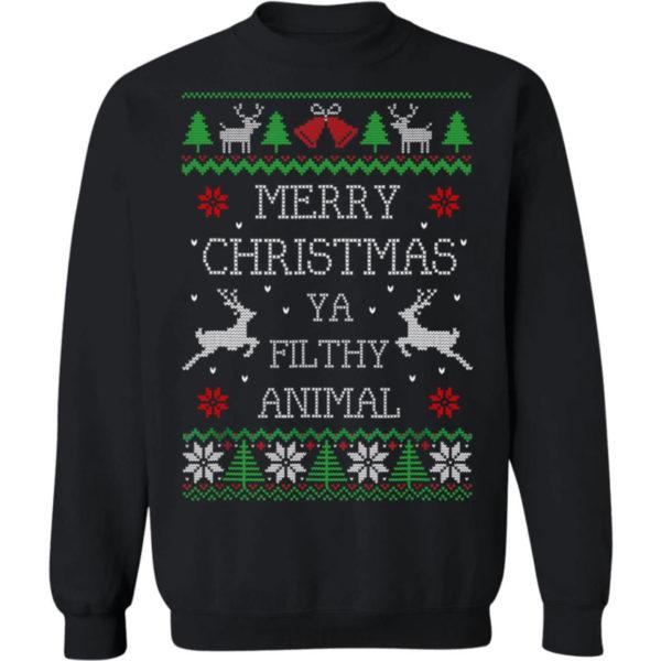 Merry Christmas Animal Filthy Ya Sweatshirt