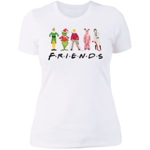 Elf Friends Christmas Ladies Boyfriend Shirt