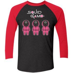 Squid Game Pink Sleeve Raglan Shirt