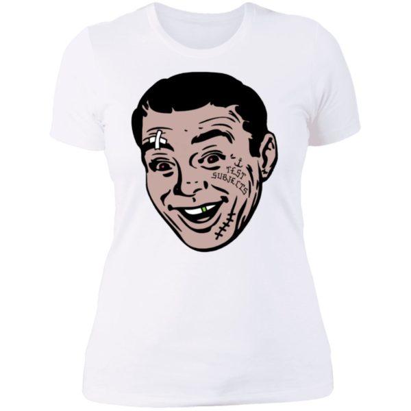 David Breather Test Subjects Ladies Boyfriend Shirt
