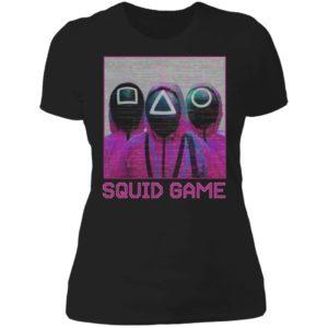 Squid Game Squad Retrowave Active Ladies Boyfriend Shirt