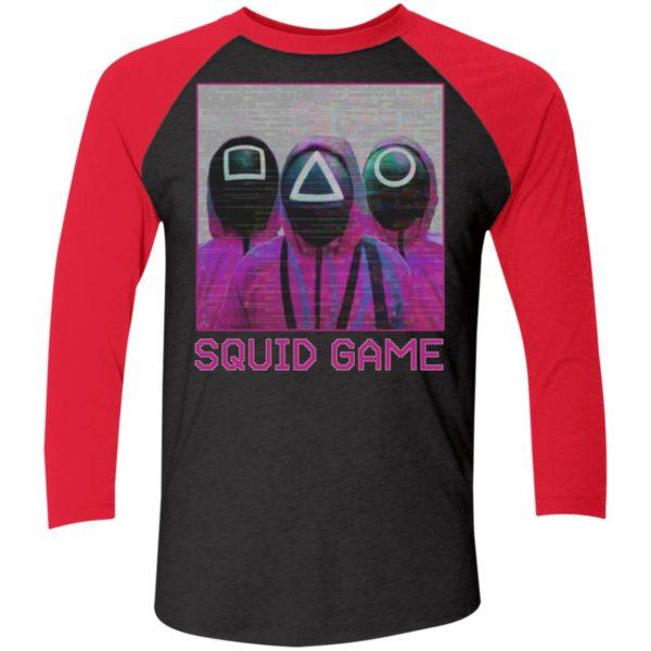 Squid Game Squad Retrowave Active Sleeve Raglan Shirt