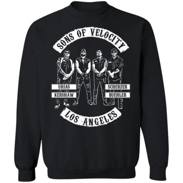 Sons Of Velocity Los Angeles Urías Kershaw Scherzer Buehler Sweatshirt