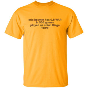 Eric Hosmer Has 0.5 War In 506 Games Played As A San Diego Padre Shirt