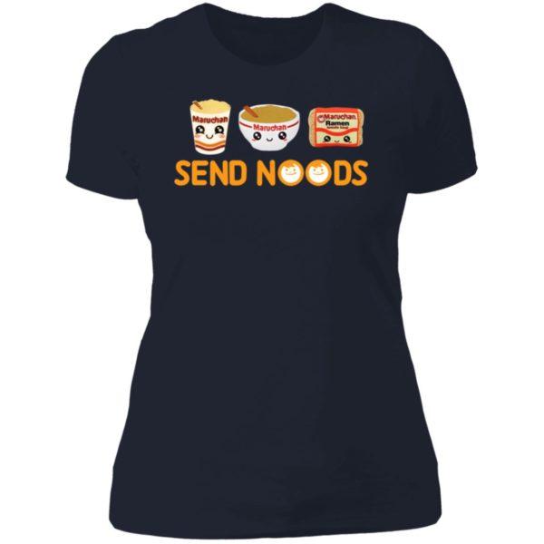 Maruchan Ramen Send Noods Ladies Boyfriend Shirt