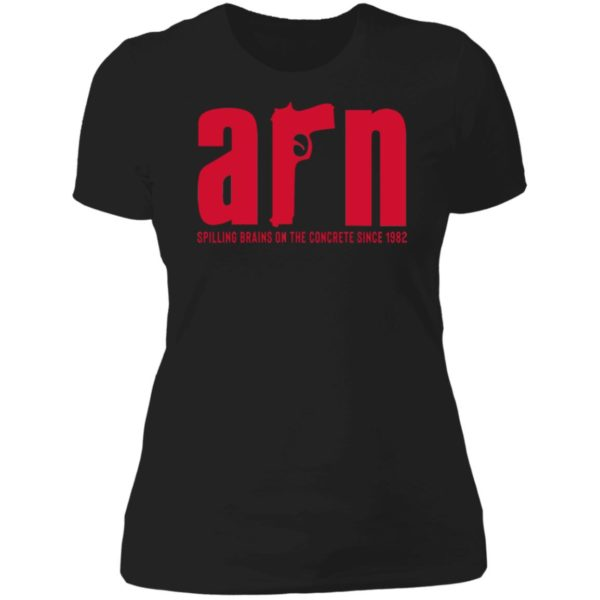 Arn Sopranos Spilling Brains On The Concrete Since 1982 Ladies Boyfriend Shirt