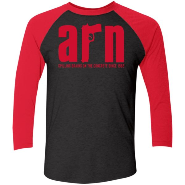 Arn Sopranos Spilling Brains On The Concrete Since 1982 Sleeve Raglan Shirt