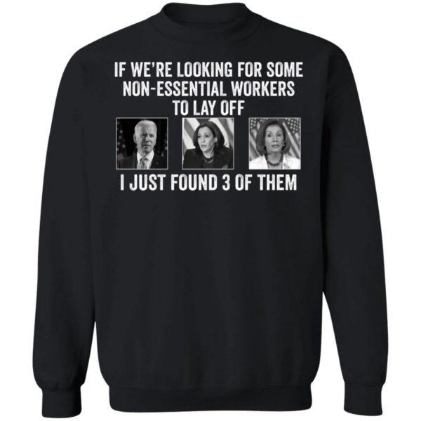 If Were Looking For Some Non Essential Workers Biden Harris Jill Biden Sweatshirt