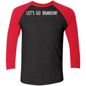 Let's Go Brandon Fuck Joe Biden Sleeve Raglan Shirt