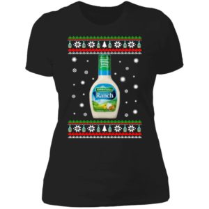 Hidden Valley Ranch Christmas Ladies Boyfriend Shirt
