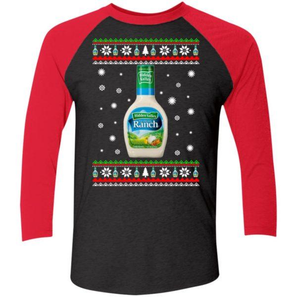 Hidden Valley Ranch Christmas Sleeve Raglan Shirt