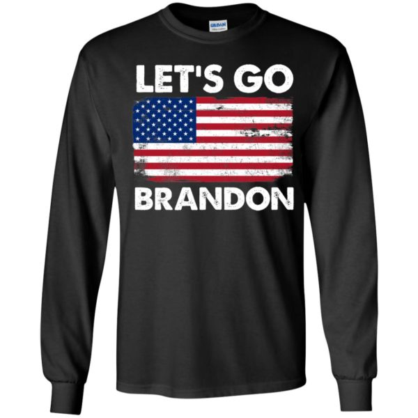 Let's Go Brandon American Flag Retro Long Sleeve Shirt