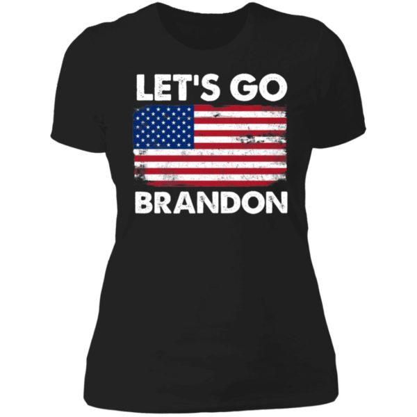 Let's Go Brandon American Flag Retro Ladies Boyfriend Shirt