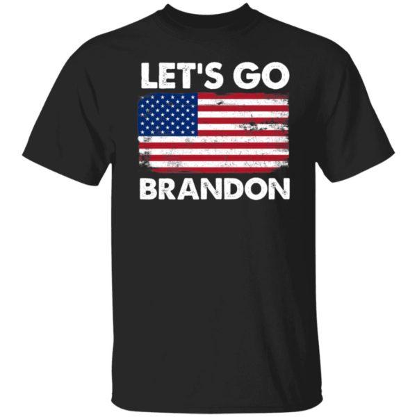 Let's Go Brandon American Flag Retro Shirt