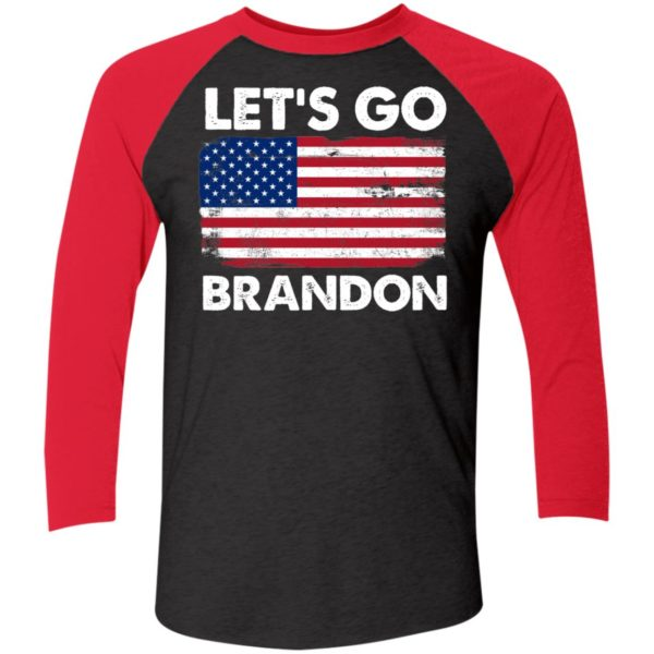 Let's Go Brandon American Flag Retro Sleeve Raglan Shirt