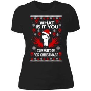 Lucifer What Is It You Desire For Christmas Ladies Boyfriend Shirt