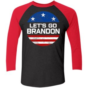 Let's Go Brandon American Flag Sleeve Raglan Shirt