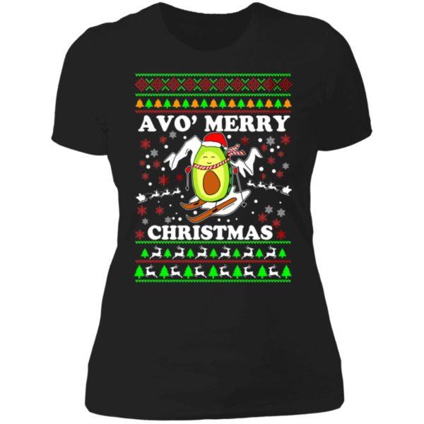 Avo Merry Christmas Ladies Boyfriend Shirt