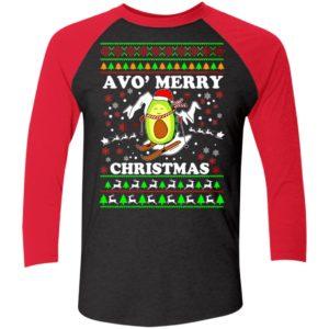 Avo Merry Christmas Sleeve Raglan Shirt