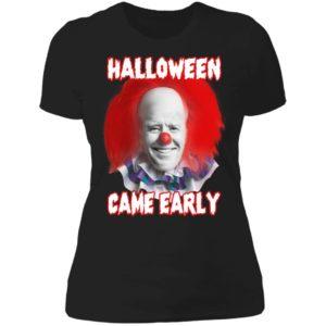 Biden Halloween Came Early Ladies Boyfriend Shirt