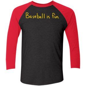Baseball Is Fun Brett Phillips Sleeve Raglan Shirt