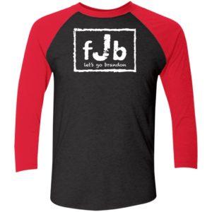 FJB Wrestling Let's Go Brandon Sleeve Raglan Shirt