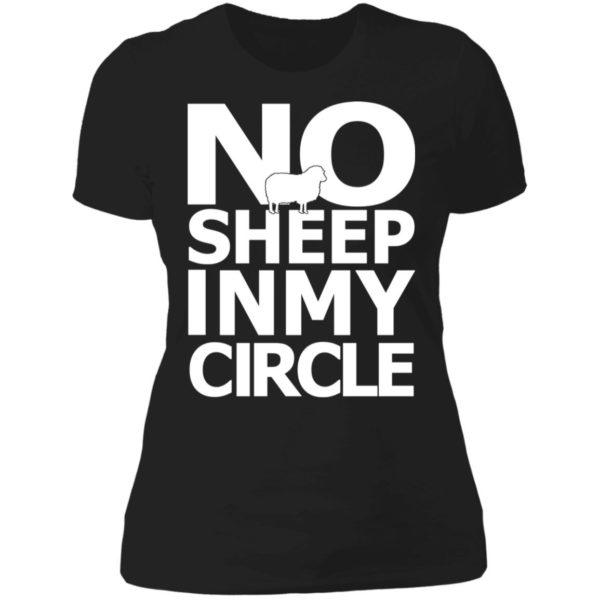 No Sheep In My Circle Ladies Boyfriend Shirt