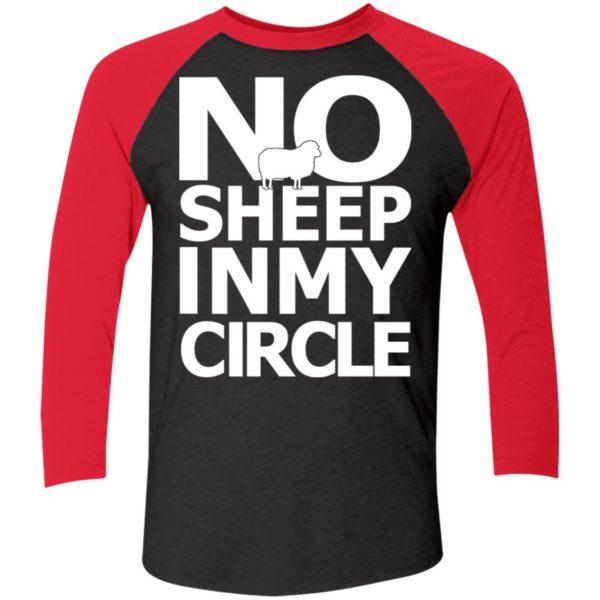 No Sheep In My Circle Sleeve Raglan Shirt